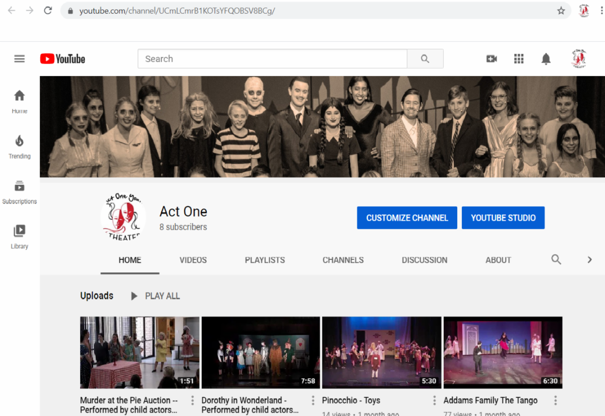 Screen shot of YouTube Page