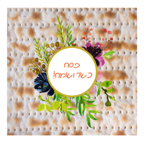 Happy Passover  Pesach  greeting card