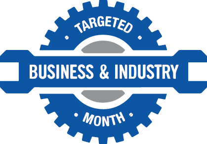 Targeted Business & Industry Month logo