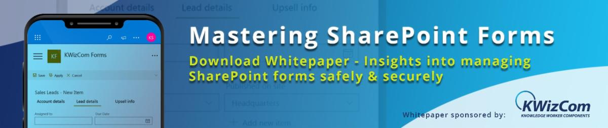 mastering SharePoint forms