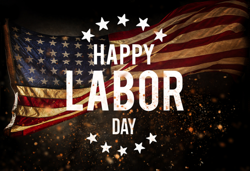 Happy Labor day banner_ american patriotic background