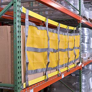 Sliding Safety Netting for pallet rack