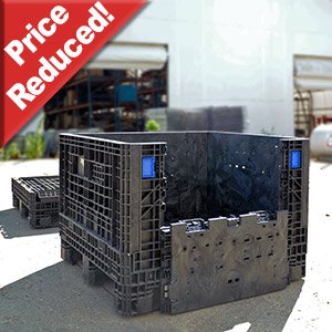Price reduced on Poly Collapsible bins