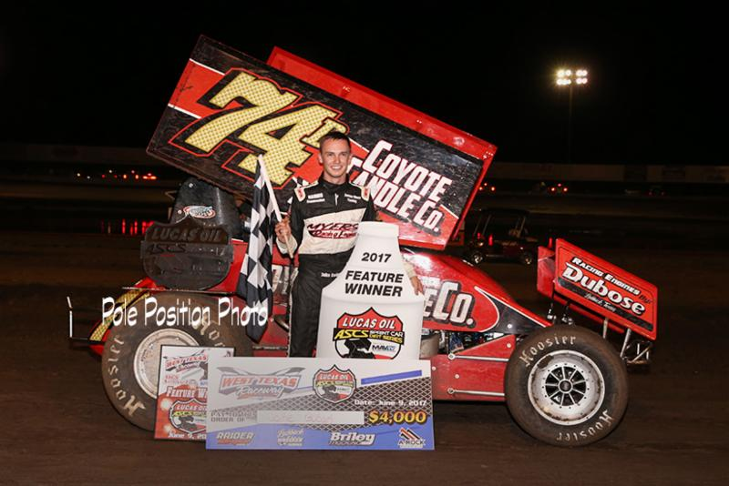 Jake Bubak Is A First Time Winner With Lucas Oil ASCS At