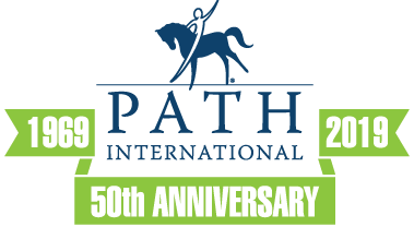 1969-2019 anniversary logo blue and green