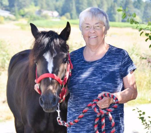 Kathy Rohe with Pippin