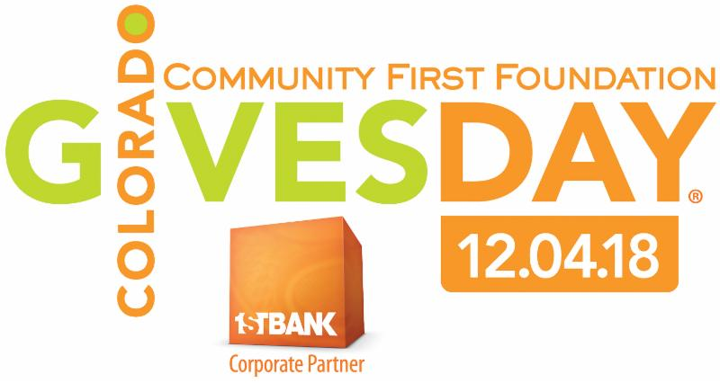 Colorado Gives Day logo orange and green on white