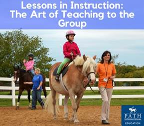 group lesson with two horses