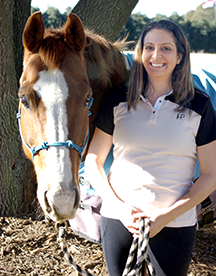 Dr. Cheryl Meola with horse