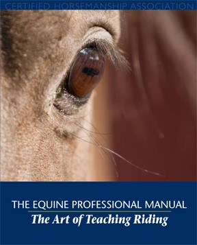 cover of The Equine Professional Manual_ The Art of Teaching Riding with closeup on horse_s eye