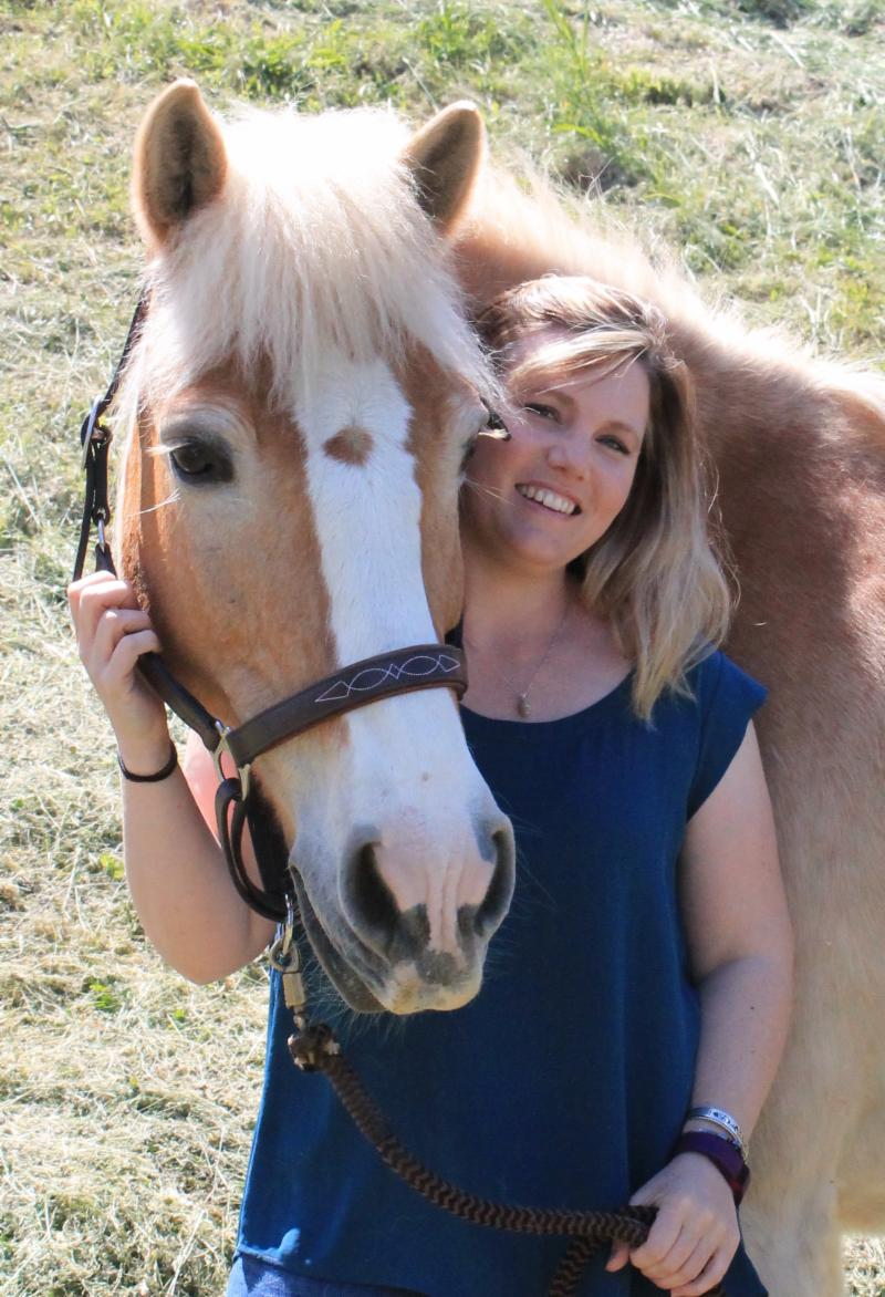 Jaycee Lee Dugard and her horse Cowboy