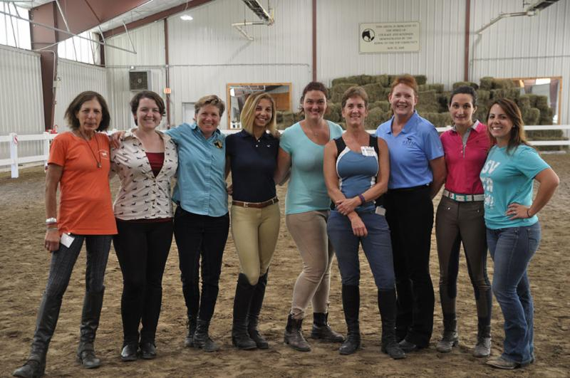 Nine women from the PATH Intl. OSWC at Riding To The Top
