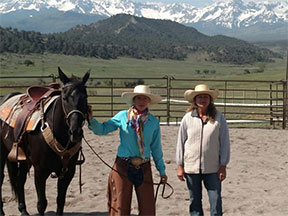Mustang Maddy and Donna Tolbert