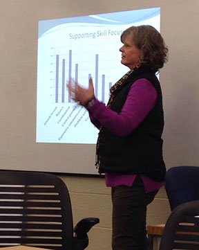 Cathy Smith-Hybels presenting on Goals Attainment Scaling