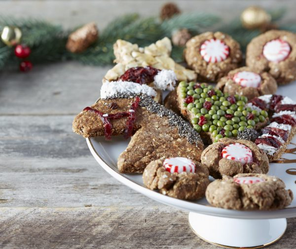 horse treats shaped like Christmas cookies