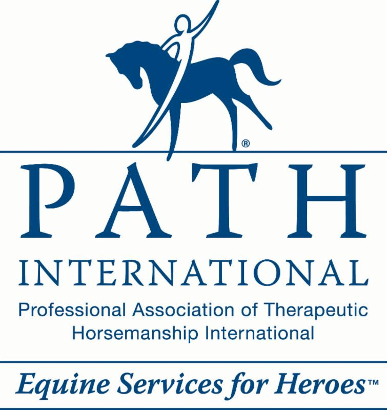 blue on white Equine Services for Heroes logo