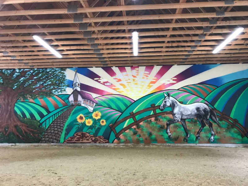 camp care mural