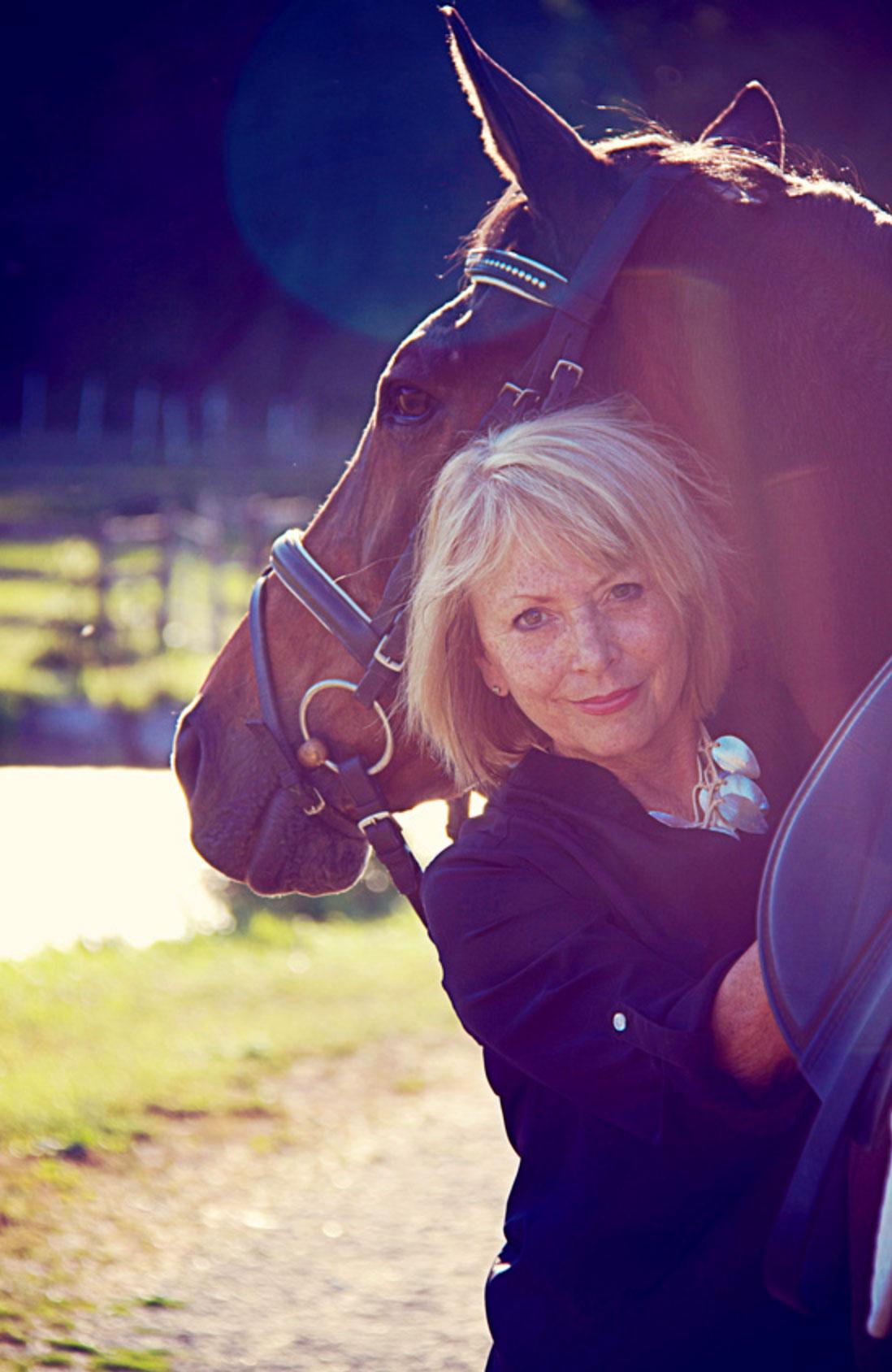 Linda Wanamaker with horse