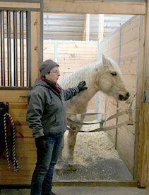 Sharon Wilsie meets High Horses new therapy pony Pal and enjoy a bit of meaningful_ mindful_ communication