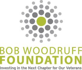 Bob Woodruff Foundation logo green and gray stacked