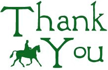 thank you with horse silhouette