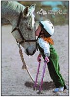 girl kissing horse at TROT