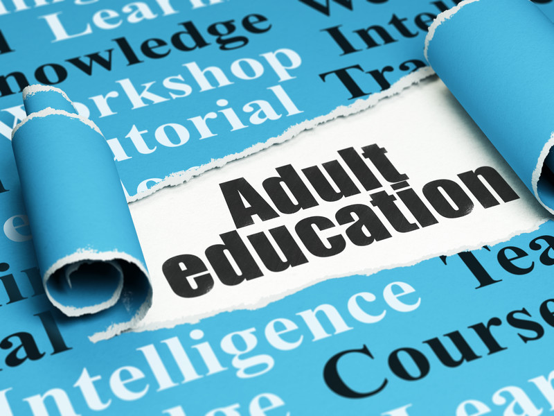 Illustration with word Adult Education