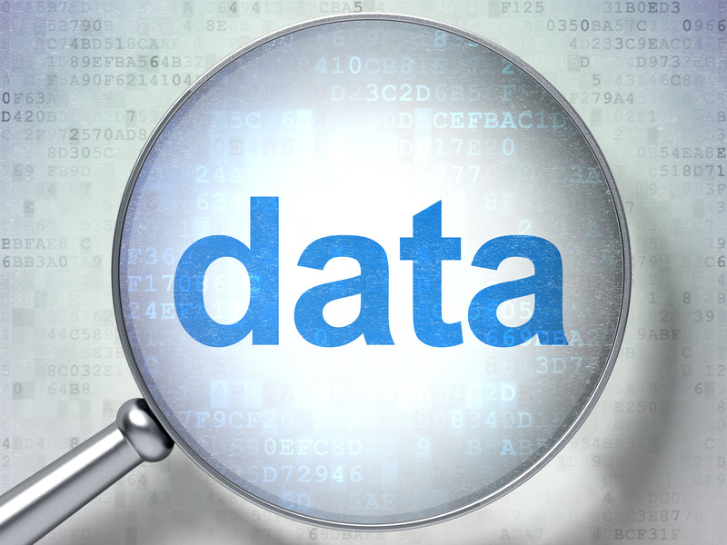 Magnifying glass with the word Data at center