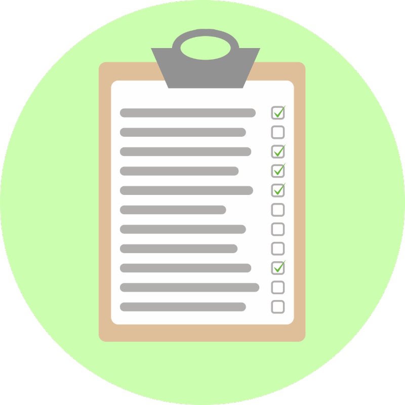 graphic of checklist on clipboard