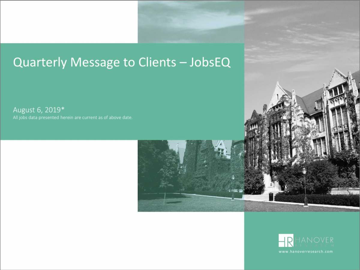 Image of Quarterly Message to Client report