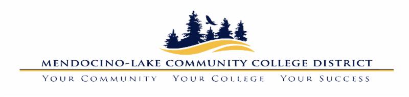 Mendocino Lake community college district logo