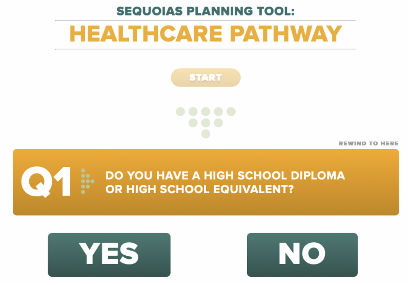 screenshot of sequoias planning tool asking first question in the series