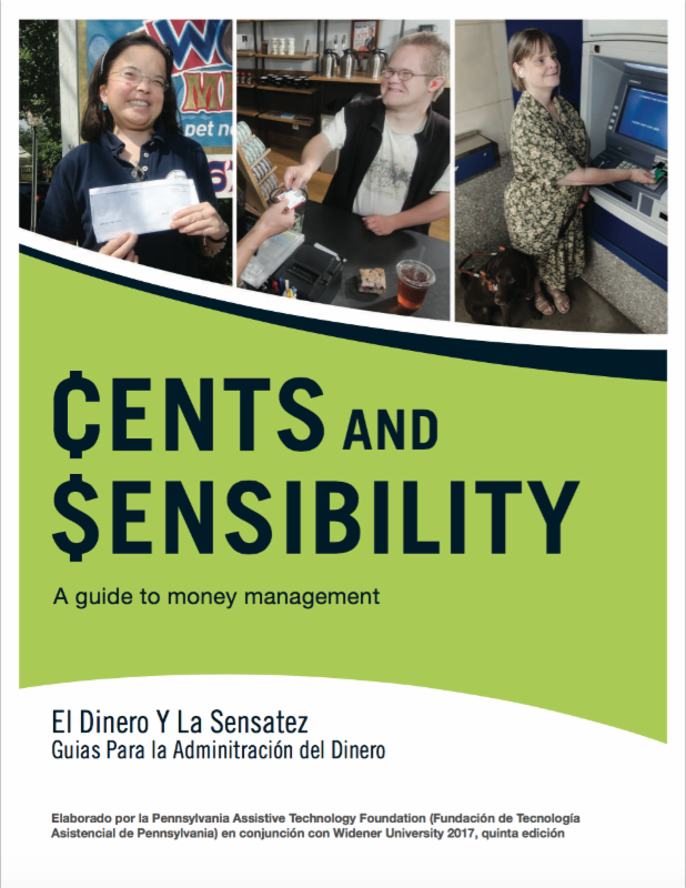 Image of the cover of Cents and Sensibility Spanish Version. Beneath the title _Cents and Sensibility_ A guide to money management__ the translation is written_ El Dinero Y La Sensatez_ Guias Para la Adminitraci_n del Dinero.