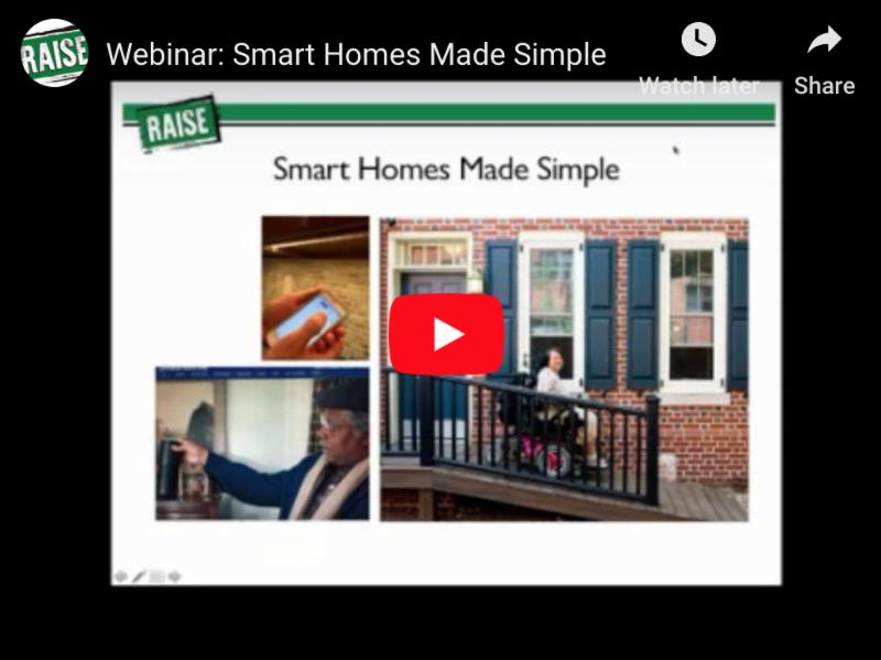 Screenshot of a Youtube video titled Webinar_ Smart Homes Made Simple.