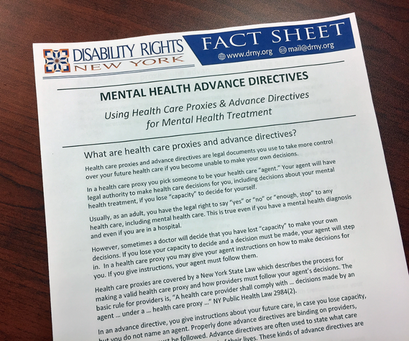 Advance Directives Fact Sheet photo