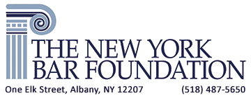 logo with a column on the left hand side the new york bar foundation