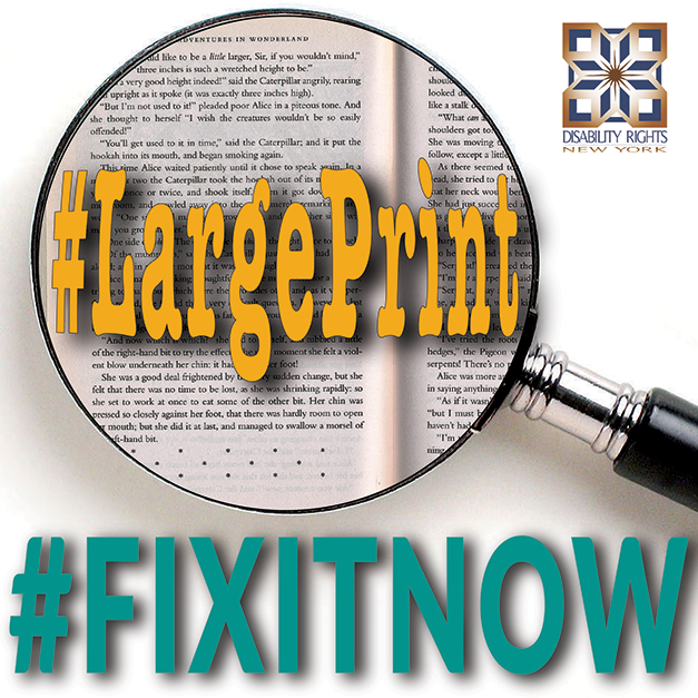 Graphic for Large Print, #FixItNow