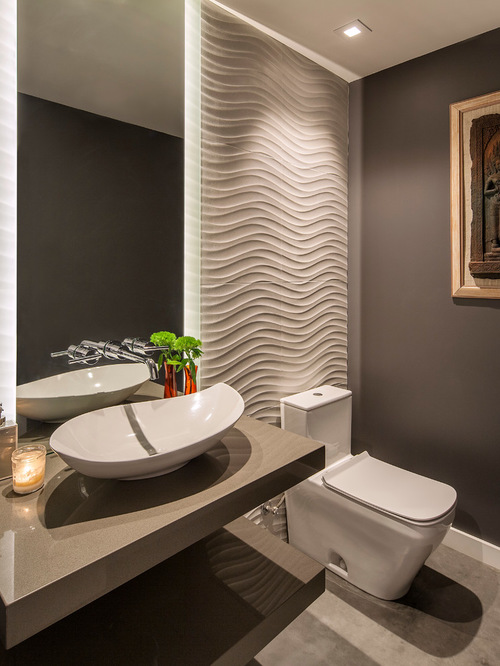 A Powder Room, Bec Ause Of Its Small Size, Is A Great Place To Take Chances  With Design. Start By Checking Out Some Beautiful Bathrooms In Person.