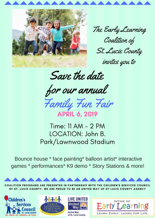 Save the Date Family Fun Fair