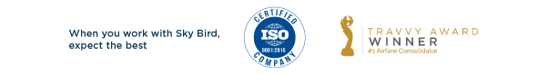 ISO certified - Expect the best when you work with Sky Bird