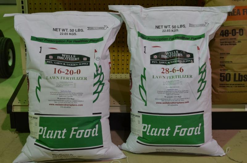 Pick up fall fertilizer at Wells Brothers Pet Lawn & Garden.