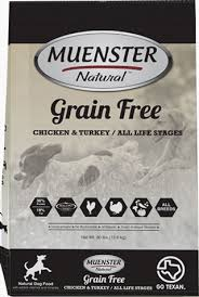 Save on Muenster Natural Grain Free Dog Food during October at Wells Brothers!