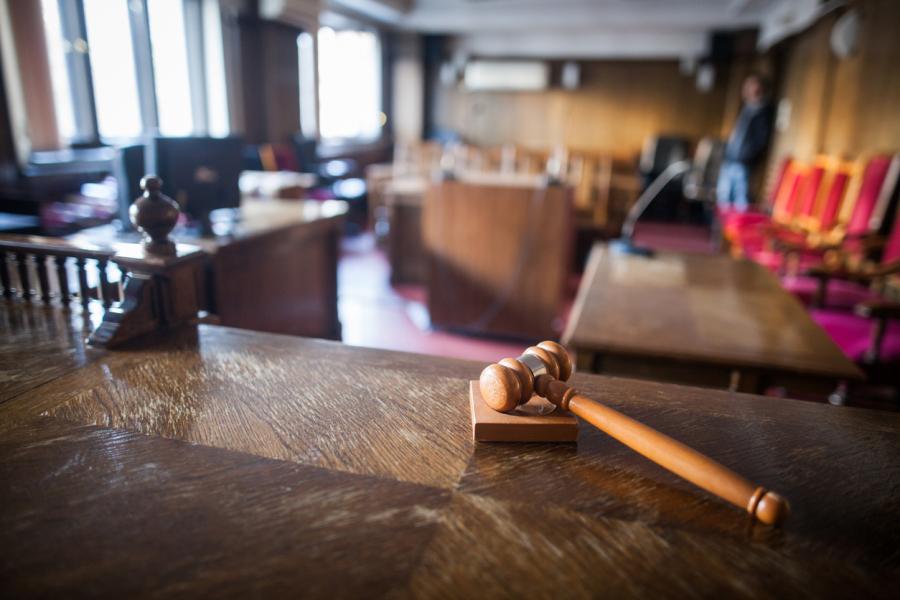 inside courtroom