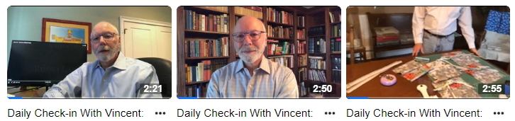 Video thumbnails from Daily Check-in with Vincent