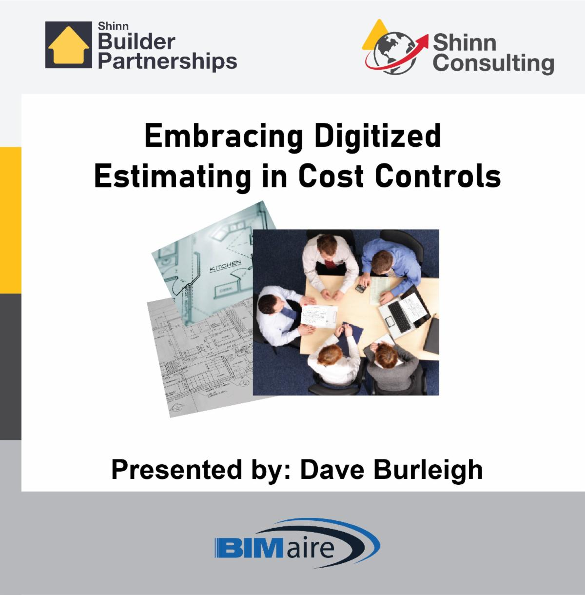 Embracing Digitized Estimating in Cost Controls webinar ad