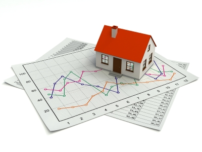 house on financial graphs