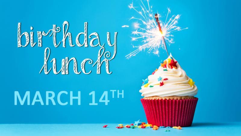 Birthday lunch Joy Group Cupcake