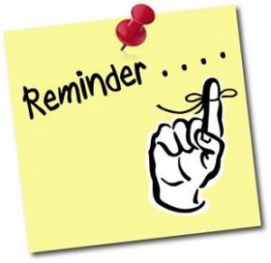 Reminder finger