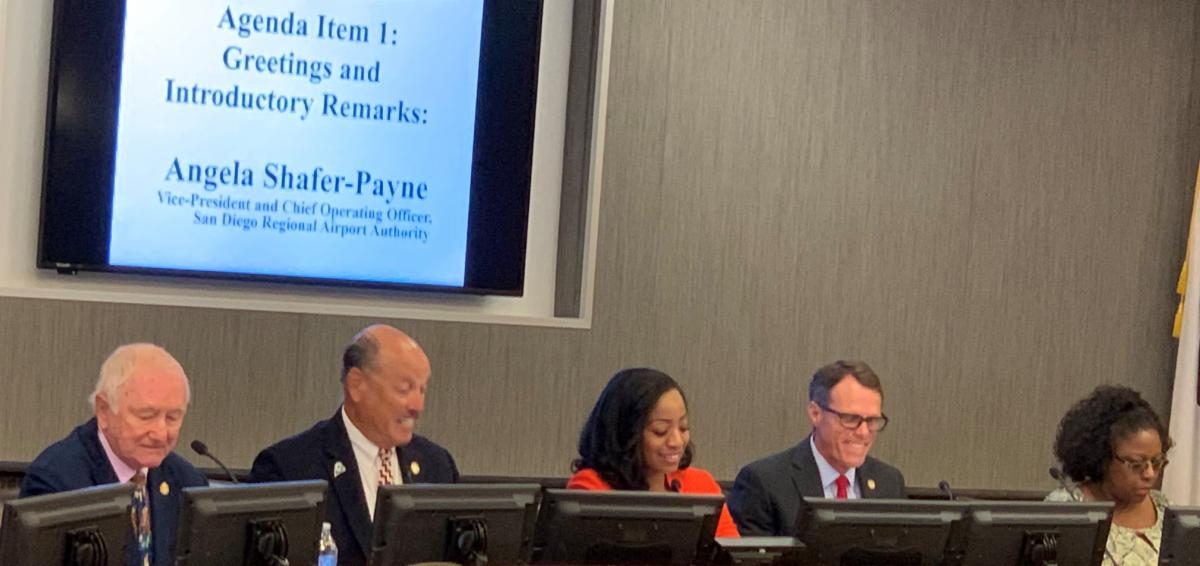 Board Members Mike Schaefer Tony Vazquez Malia Cohen Ted Gaines and Yvette Stowers at the Informational Hearing in San Diego on September 19 2019.