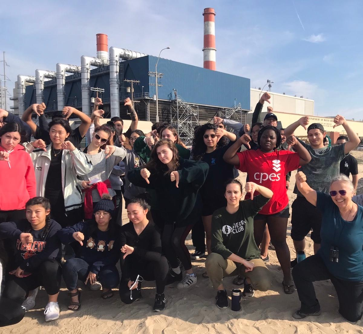 Students in the San Fernando Valley including LAVC's EcoAdvocates protest the LADWP gas fired power plant in Sun Valley.  The Valley Sierra Club helped organize the protest.